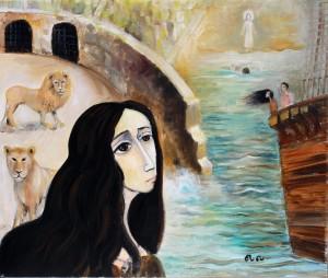 Hadassah, oil on canvas, 2014, Denmark