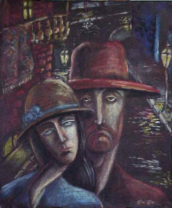 Love in the old Tbilisi Pastel 1999. Singapore