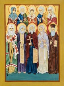 Icon of ten saints