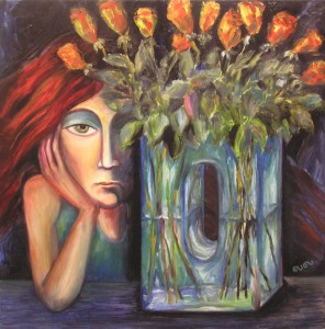 The blue vase, Oil on canvas, 2004, Denmark