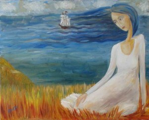 Longing Oil on canvas 2002. Denmark