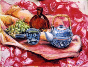 Still life with grapes Pastel 2000. Singapore