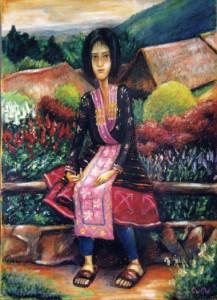 Thai girl Pastel 2000. Singapore